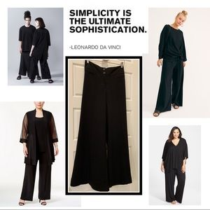 Lane Bryant Wide Leg Trousers  with Cuffs